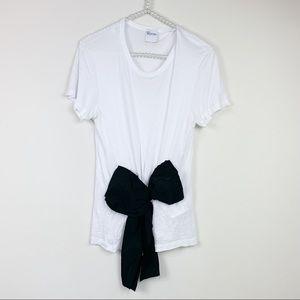 Red Valentino t- shirt white M black bow